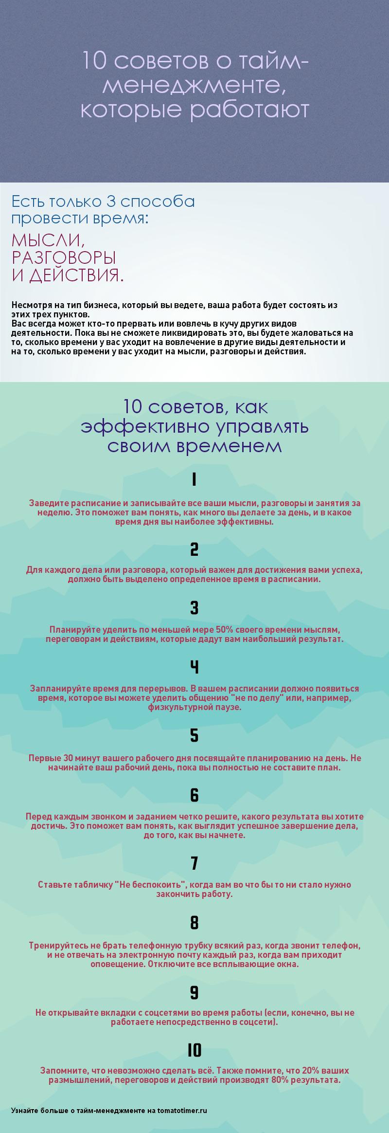 тайм-менеджмент: 10 эффективных советов