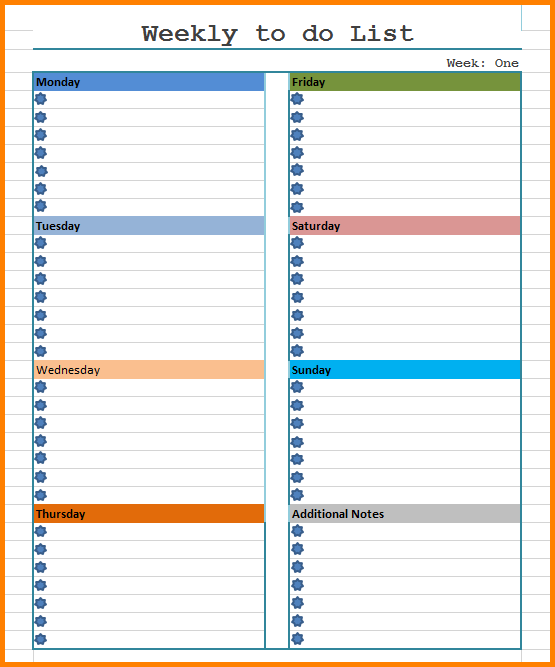 To do list dayly for Does word have a calendar template