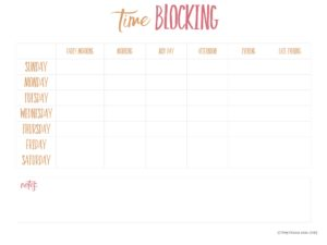 Time Blocking List
