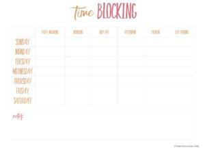 Time Blocking List