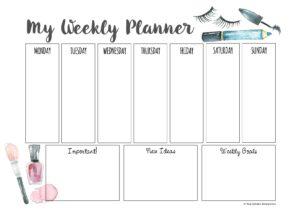 weekly planner makeup