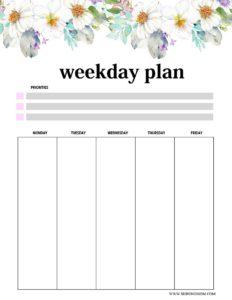 лист планера на неделю - 2