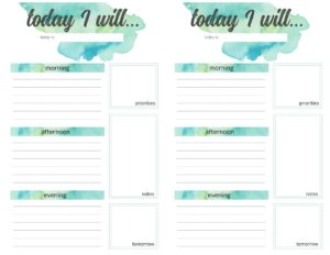 weekly planner pages - 3