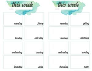 weekly planner pages - 2