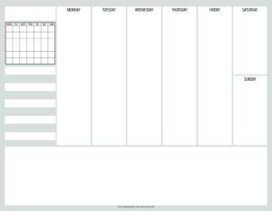 weekly simple planner - 04