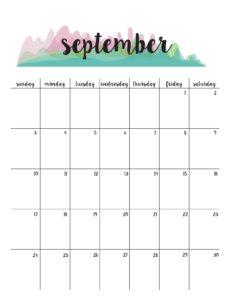 планер на сентябрь