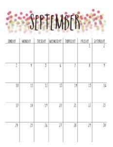 сентябрь 2017 календарь
