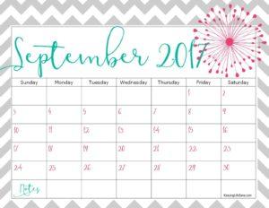 шаблон планера на сентябрь