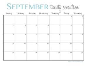 planner september printable