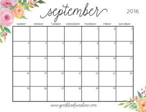 September Planner 2017
