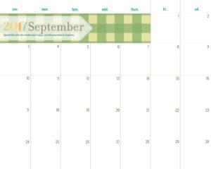 September Green Planner