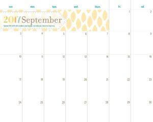 September Lemon Drop Planner