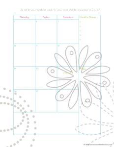 страницы планера на октябрь