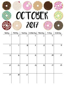 планер на октябрь с пончиками