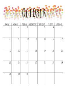 красивые планеры на октябрь