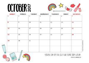 календарь-планер на октябрь