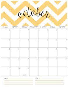 календарь-планер на октябрь 2017
