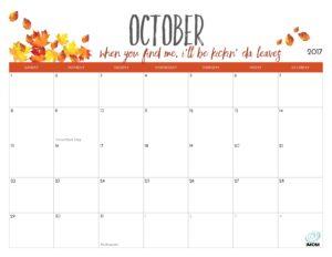 planner october 2017