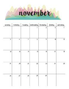 планер на ноябрь