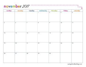 planner calendar november 2017