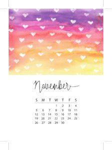 november monthly planner