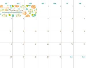 календарь-планер на ноябрь 2017 года