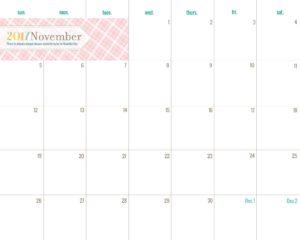 планер на ноябрь - пастель