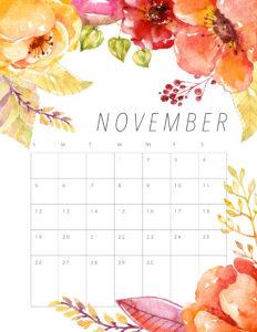 красочный планер на ноябрь 2017