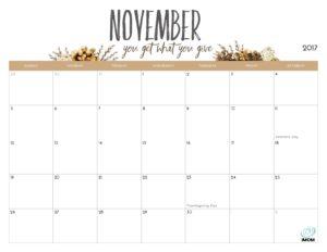 november 2018 planner