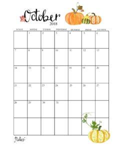 календарь 2018 - октябрь