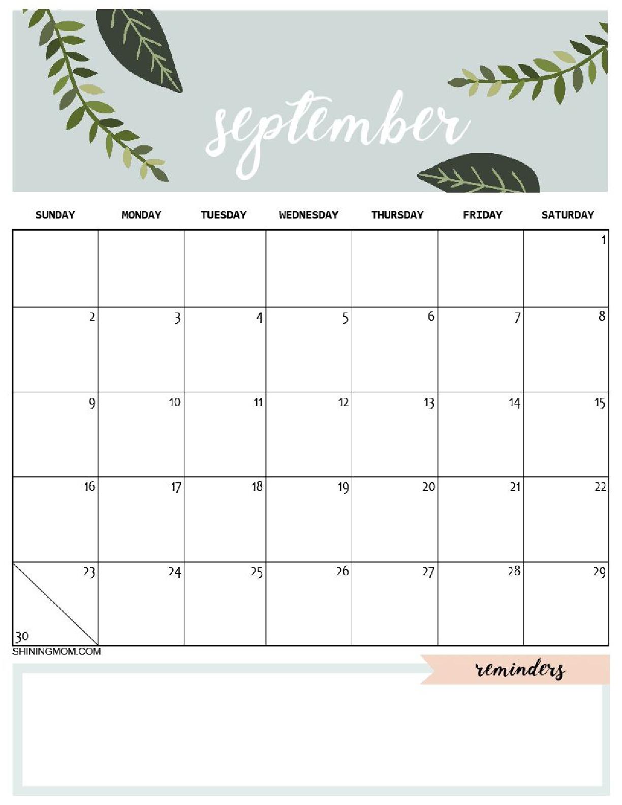 планер на сентябрь - распечатать