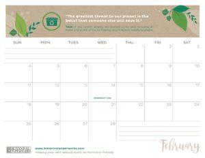planner 2018 - February