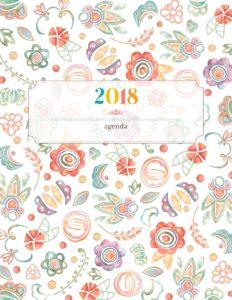 Обложка для планера 2018 - цветочная
