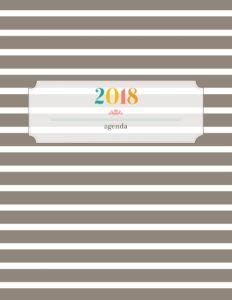 Обложка для планера 2018 - в полоску