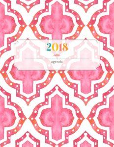 Обложка для планера 2018 - розовая