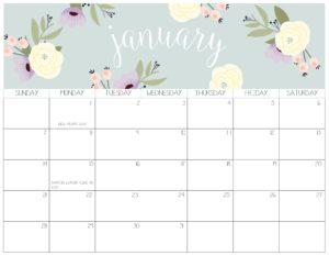 календарь 2018 - январь