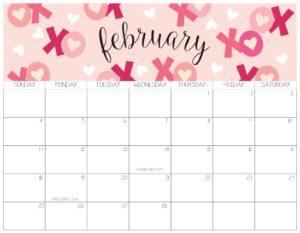 календарь 2018 - февраль