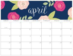 календарь 2018 - апрель