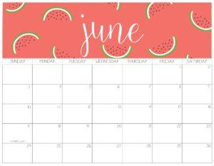 календарь 2018 - июнь
