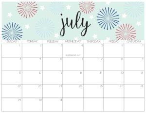 календарь 2018 - июль