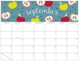 календарь 2018 - сентябрь