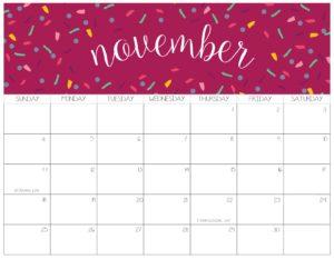 календарь 2018 - ноябрь