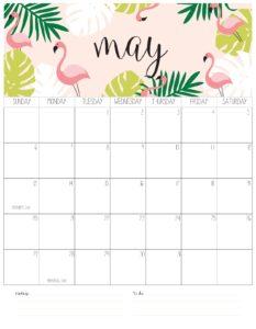 вертикальный календарь 2018 - май