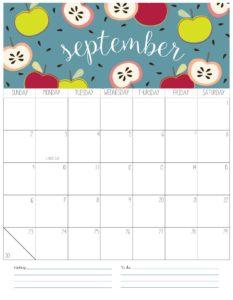вертикальный календарь 2018 - сентябрь