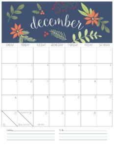 вертикальный календарь 2018 - декабрь