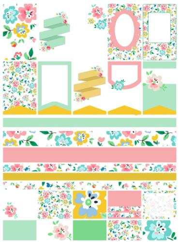 стикеры для ежедневника - цветочные