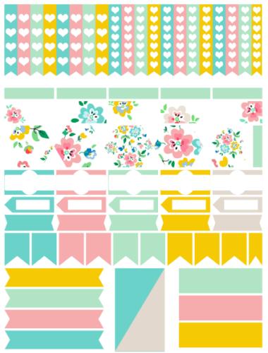 стикеры для планера - цветочные