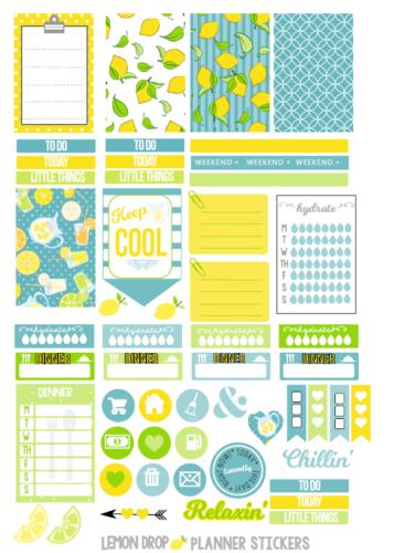 стикеры для ежедневника - лимон