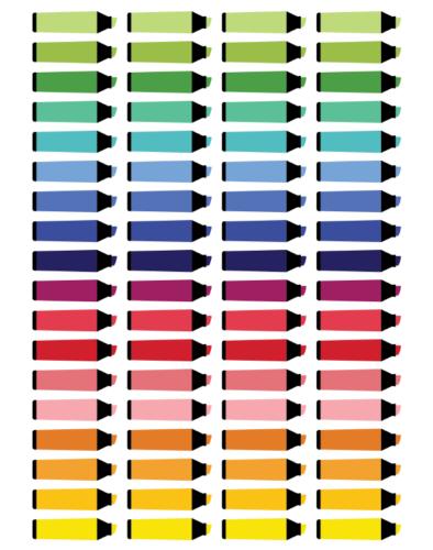 стикеры для планера - маркеры
