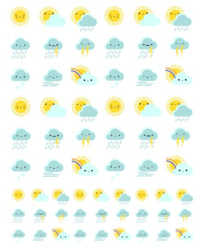 стикеры для планера - погодные